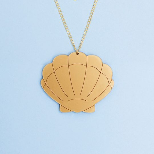 Collier Shell Doré