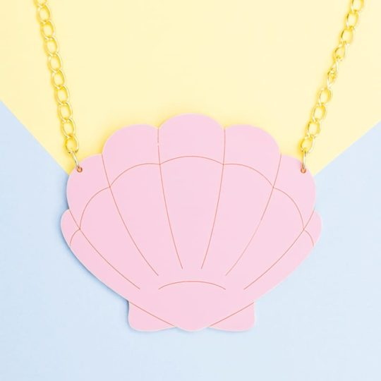 Collier Grand Shell Rose