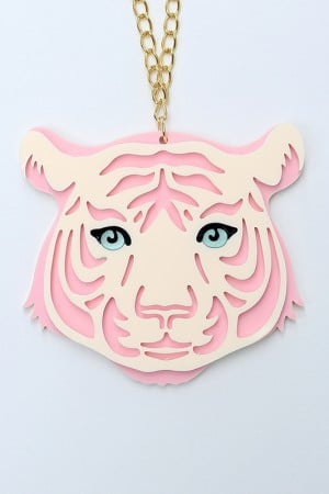 Collier-Tigre-Rose