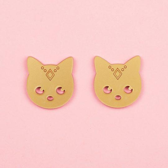 Boucles-Stud-Gipsy-Cat-doré