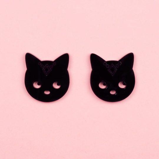 Boucles-Stud-Gipsy-Cat-noir