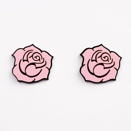 Boucles-stud-gipsy-roses-rose