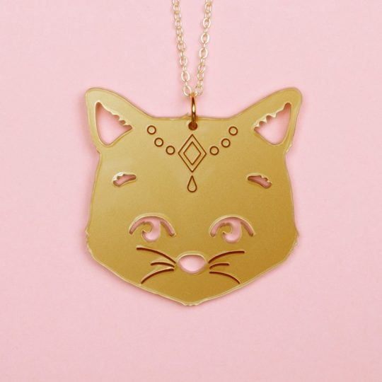 Collier-Gipsy-cat-doré