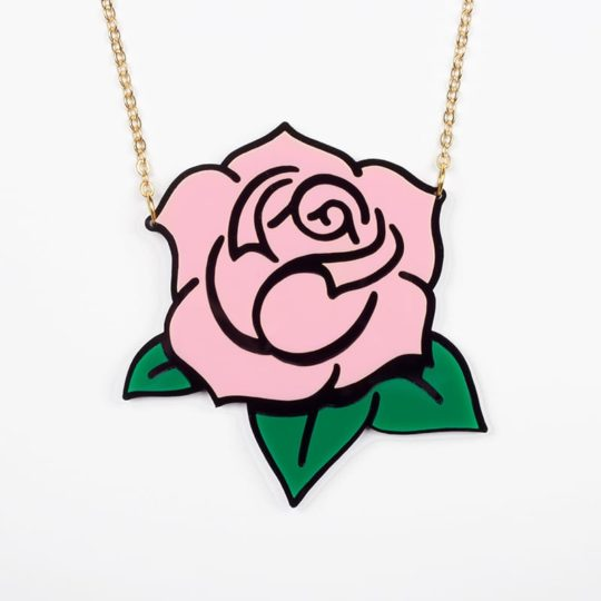 Collier-Rose-rose