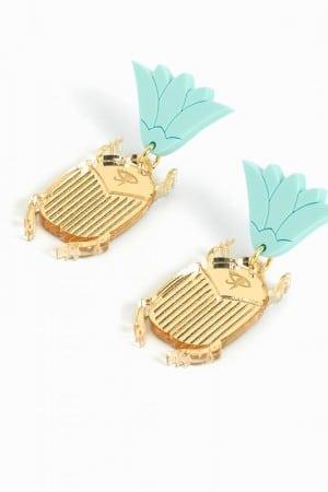 juleetlily b.o scarabee lotus doré
