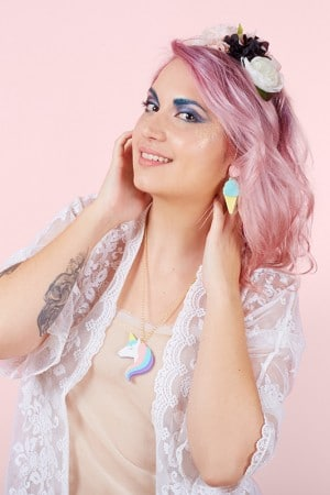 Jule_et_lily_Rainbow collier unicornet et b.o ice cream