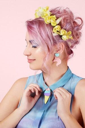 Jule_et_lily Broche Glace_Rainbow b.o unicornet rose
