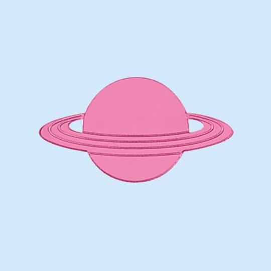 Pin's Saturne rose, juleetlily, cosmic
