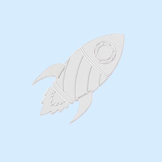 Pins fusée silver JuleetLily cosmic