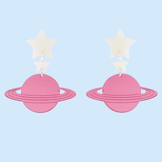 Boucles d'oreilles Saturne juleetlily cosmic